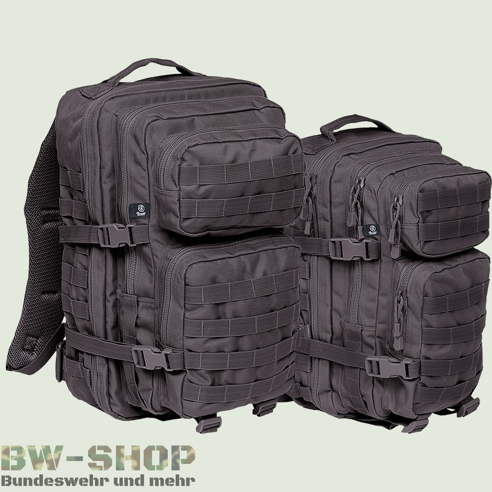 us assault pack rucksack schwarz neu 30l 50l armee outdoor tasche bw cooper ebay. Black Bedroom Furniture Sets. Home Design Ideas