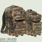 US Assault Pack Rucksack Flecktarn Neu Medium 30L & Large 50L Bild 1