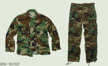 Original US Army Jacke / Hose Woodland