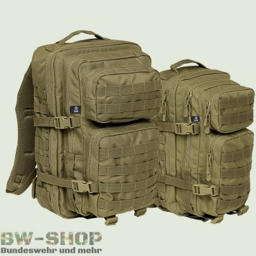 US Assault Pack Rucksack oliv Neu Medium 30L & Large 50L