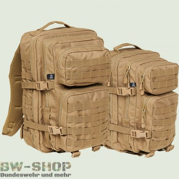US Assault Pack Rucksack beige Neu Medium 30L & Large 50L
